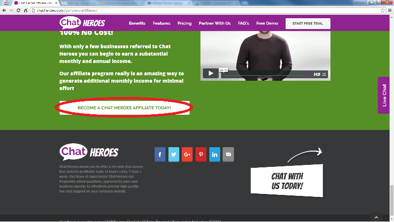 Become A Chat Heroes Affiliate Button