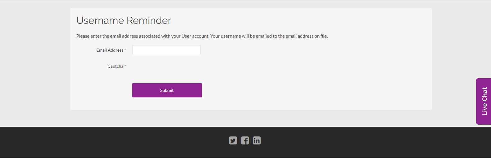 Username Reminder