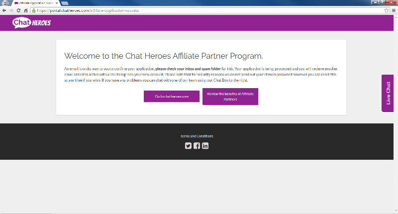 Welcome To Chat Heroes Affiliate Partner Program
