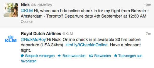 KLM Twitter Customer Service